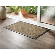 Addis Sculptured Doormat 55 x 85cm - Natural Grid