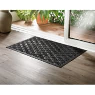 Addis Sculptured Doormat 55 x 85cm - Black Fan