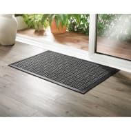 Addis Sculptured Doormat 55 x 85cm - Grey Grid
