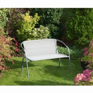 Sorrento Rattan Effect Bench - Grey