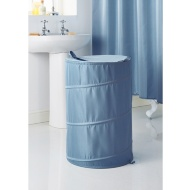 Addis Jacquard Pop-Up Laundry Hamper - Blue