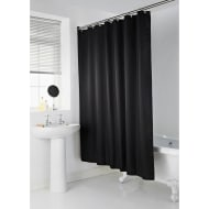 Addis Jacquard Shower Curtain - Black