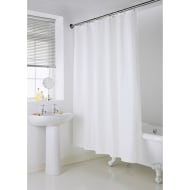 Addis Jacquard Shower Curtain - White