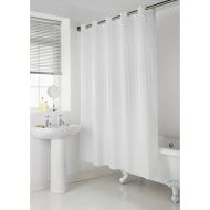Addis Hookless Shower Curtain - White Stripe