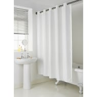 Addis Hookless Shower Curtain - White Zigzag