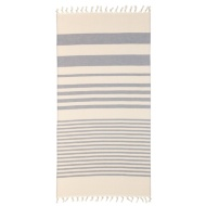 Hammam Tassel Beach Towel - Navy
