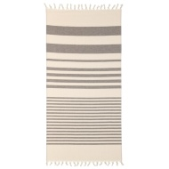 Hammam Tassel Beach Towel - Grey