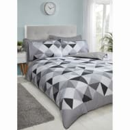 Geo Triangles Double Duvet Cover - Mono