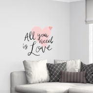Quotes Wall Sticker - All You Need is Love