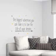 Quotes Wall Sticker - Biggest Adventure