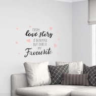 Quotes Wall Sticker - Love Story