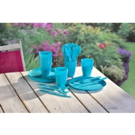 Picnic Dining Set 31pc - Turquoise