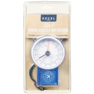 2-in-1 Luggage Scales with Tape Measure - Navy