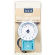 2-in-1 Luggage Scales with Tape Measure - Teal