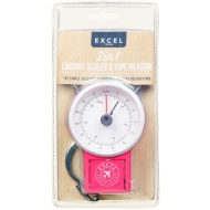 2-in-1 Luggage Scales with Tape Measure - Raspberry