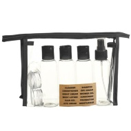 Travel Bottle Set 9pc - Black