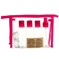 Travel Bottle Set 9pc - Raspberry