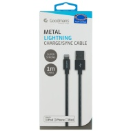 Goodmans Lightning Metal Charging Cable - Black