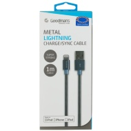 Goodmans Lightning Metal Charging Cable - Dark Grey