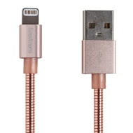 Goodmans Lightning Metal Charging Cable - Rose Gold