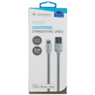 Goodmans Lightning Metal Charging Cable - Silver