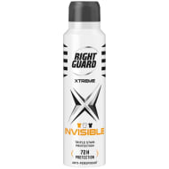 Right Guard Men's Xtreme Invisible Deodorant 150ml
