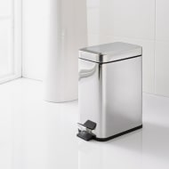 Addis Rectangular Chrome Bin 5L