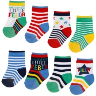 Mixed Baby Socks 8pk
