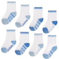 Baby Gripper Socks 8pk - Blue