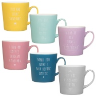 Coloured Slogan Mug