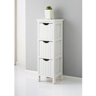 Maine 3 Drawer Chest   White