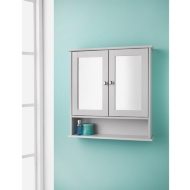 Maine Grey Bathroom Mirror Cabinet with Shelf