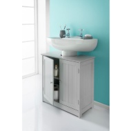Maine Grey Bathroom Undersink Cabinet