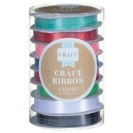 Coloured Craft Ribbon 8pk