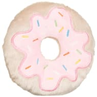 Squeaky Plush Food Toy - Doughnut