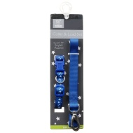 Dog Collar & Lead Set - Blue Stars
