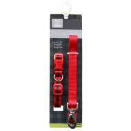 Dog Collar & Lead Set - Red Tartan