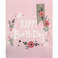 Large Gift Bags 2pk - Happy Birthday Pink