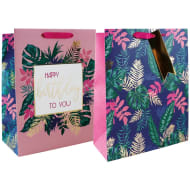 Large Gift Bags 2pk - Floral