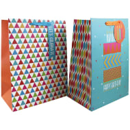 Large Gift Bags 2pk - Let's Celebrate