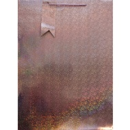 XL Holographic Gift Bag 2pk - Rose Gold