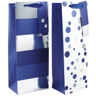 Bottle Bag 2pk - Blue Spots & Stripes