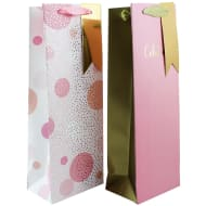 Bottle Bag 2pk - Pink & Gold