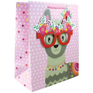 Gift Bag with Glasses - Llama