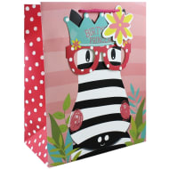 Gift Bag with Glasses - Zebra