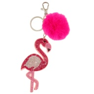 Sequin Keyring - Flamingo