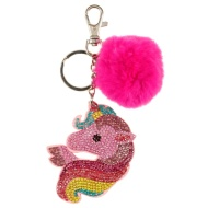 Sequin Keyring - Unicorn