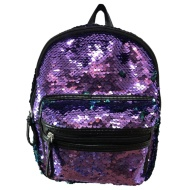 Mini Sequin Backpack - Purple