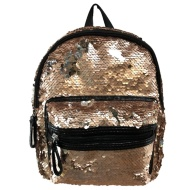 Mini Sequin Backpack - Gold