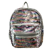 Mini Sequin Backpack - Silver